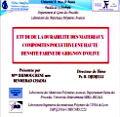 Soutenance de Thèse de Doctorat  de Mme IHEMOUCHENE Née BENMERAD Chadia