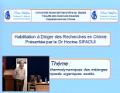 Soutenance d'habilitation à diriger des recherches en chimie du Dr Hocine SIFAOUI