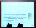 Communication présentée par A.ARIB-Mezdad