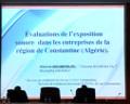 Communication présentée par Allaoua BOUMENDJEL