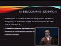Cours 1ère année master architecture, module: méthodologie, intitulé la bibliographie animé par Mr DJERMOUNE