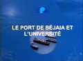 Le port de Béjaia et l'université (EPB)