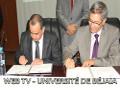 Signature de convention Université de Béjaia-Agence Nationale de l'Emploi (ANEM)