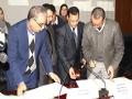 Allocutions d'ouverture du colloque  et signature de convention ( Université de Bejaia-La chambre régionale des huissiers de justice)