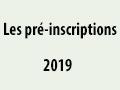 Les pré – inscriptions des nouveaux bacheliers – 2019/ 2020