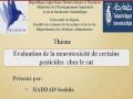 Communication présentée par Mme HADDAD Souhila