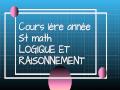 Cours L1_S1_ST_Mat.1_C01/13_2020 intitulé: «Logique et raisonnement»