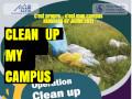 Projet SAFIR, opération clean up my campus sous le slogan